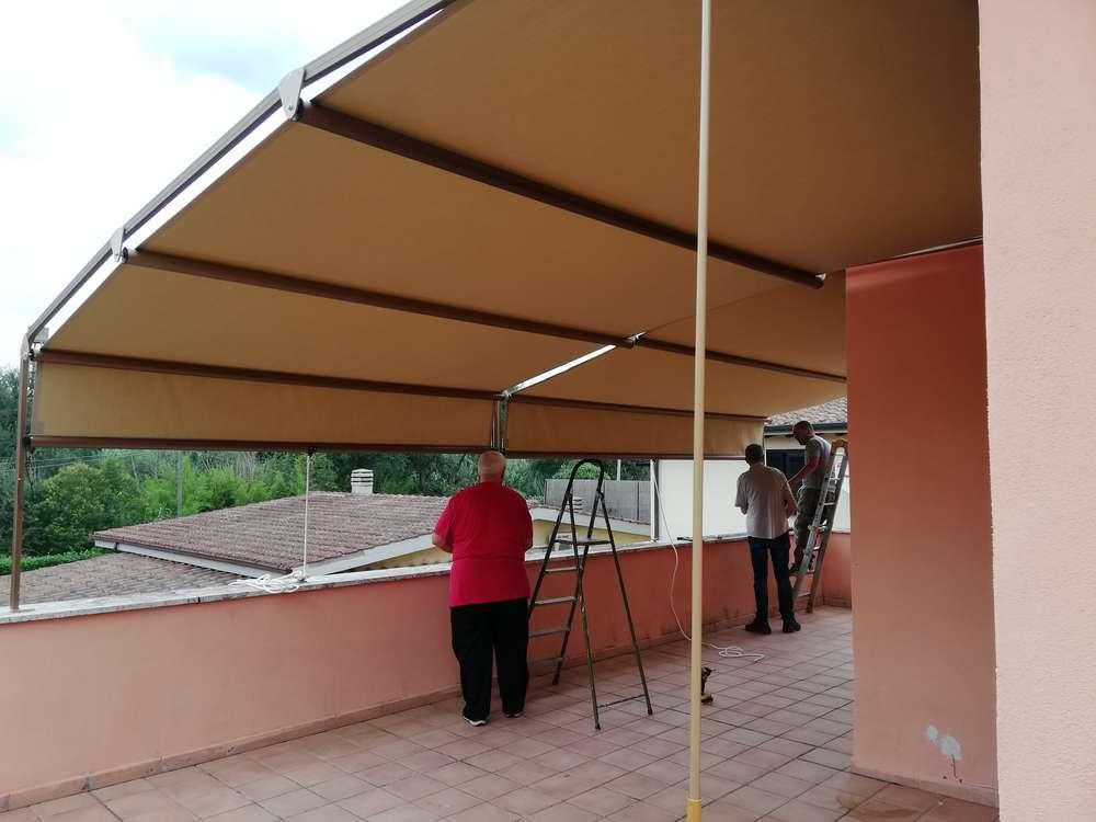 Tende Per Veranda Roma : Tende in veranda tende per terrazzi eurotendesud 2000 srl